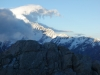Mt Cook and cloud (Mueller Hut Jan 2014)