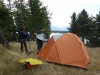 Setting up the tent (Mueller Hut Jan 2014)
