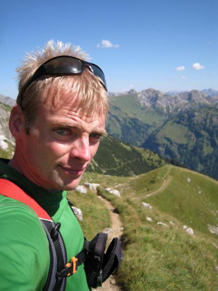 Cris on track (Nebelhorn Klettersteig, Germany)