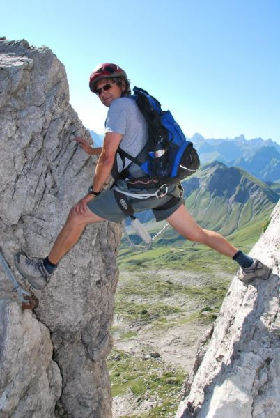 Ulli climbing (Nebelhorn Klettersteig, Germany)