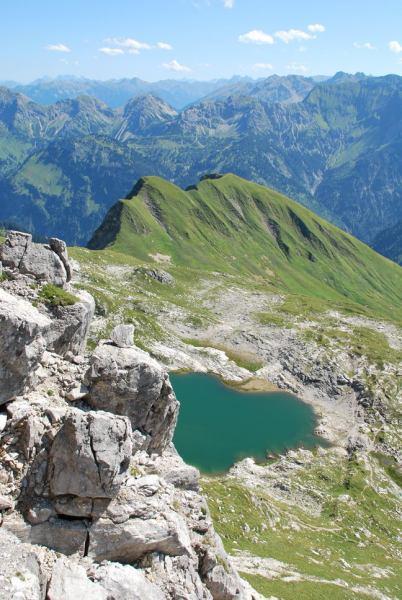 View of lake (Nebelhorn Klettersteig, Germany)