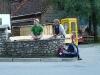 Cris and Ulli cooling off (Nebelhorn Klettersteig, Germany)