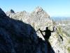 Cris climbing (Nebelhorn Klettersteig, Germany)