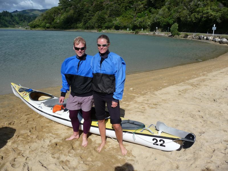 Before going kayaking (Marahau)