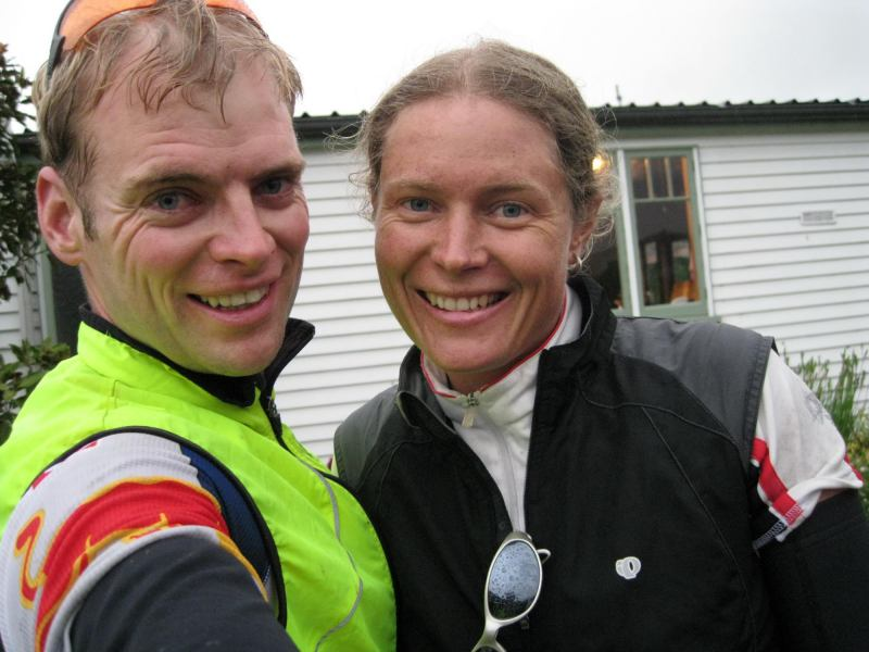 Cris and Frauke after riding (Olmec's)