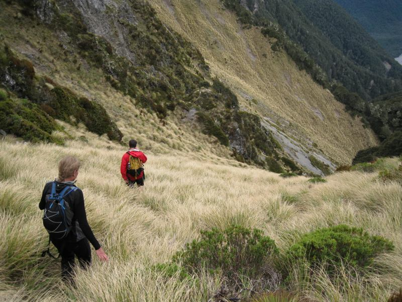 Descending from the pyramid (The Pyramid, Arthurs Pass)