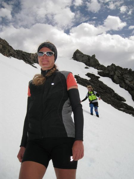 Frauke and Gina (Mt Technical, Lewis Pass)