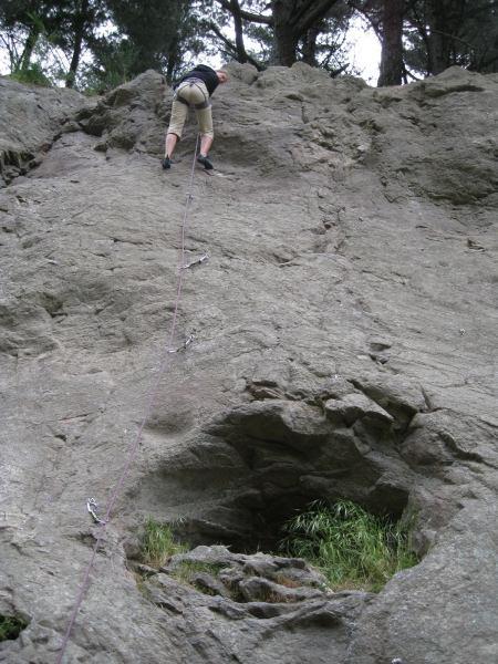 Frauke climbing at Albert Tce (Christchurch)