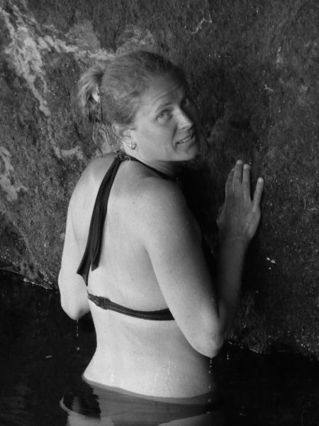 Frauke in the water (Paynes Ford Swimming Hole)