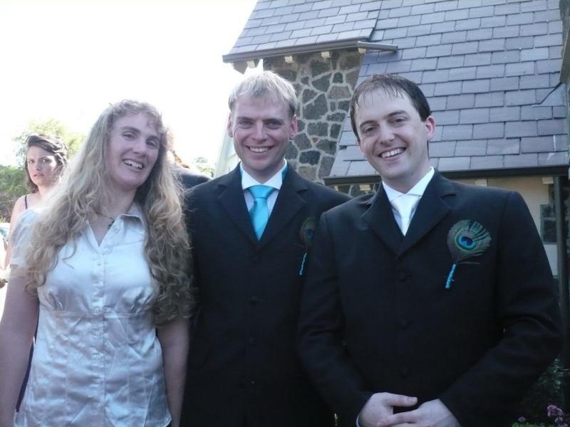 Gina, Cris, Simon (Simon and Anita's wedding)