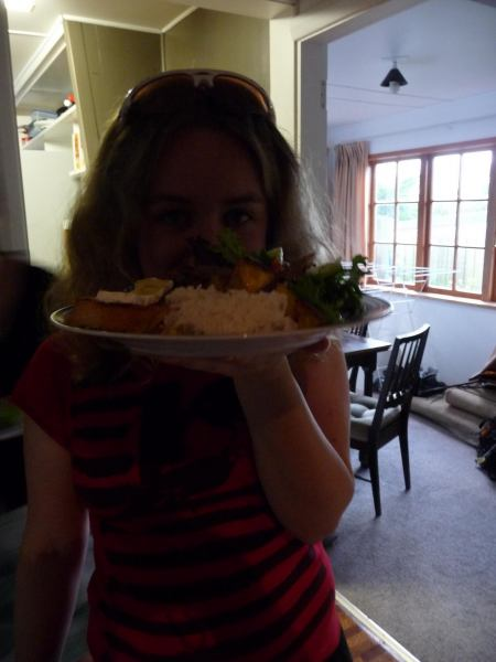 Katie and food (Christchurch)