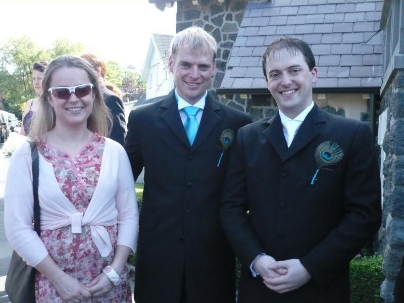 Katie, Cris, Simon (Simon and Anita's wedding)