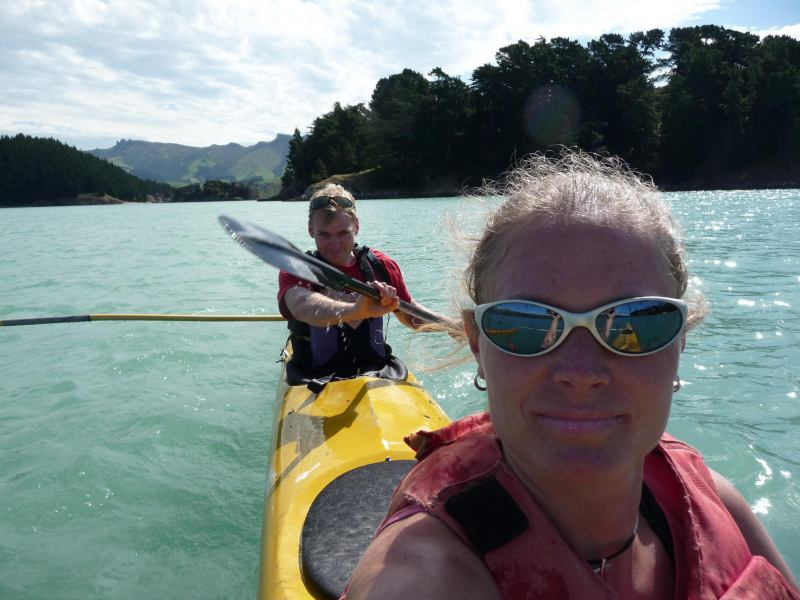 Kayaking near Quail Island (Lyttelton Harbour, Christchurch)