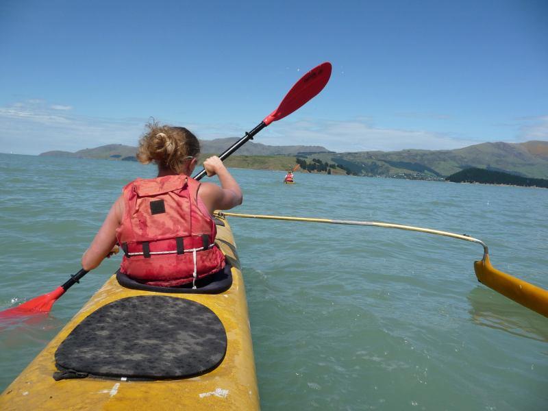 Kayaking to Quail Island (Lyttelton Harbour, Christchurch)