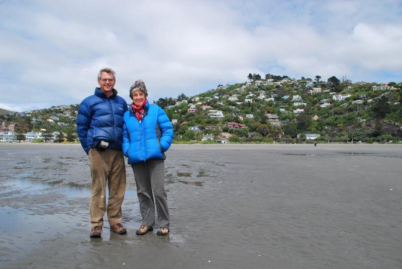 Mum and Dad (Sumner beach, Christchurch)