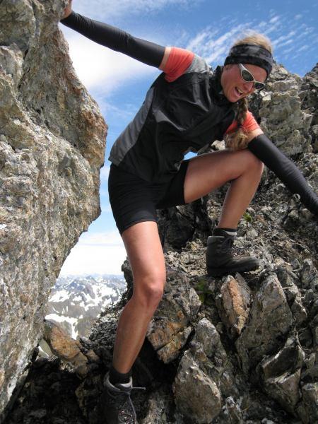 Rahhhh, Frauke in action (Lewis Pass)