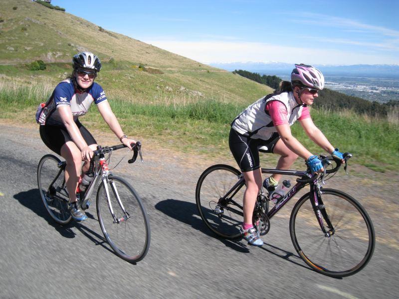 Riding on the Port Hills (Christchurch)