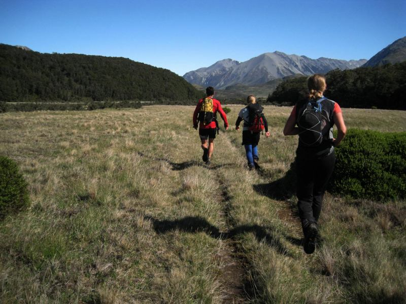 Running out the Hawdon Valley (Arthurs Pass)
