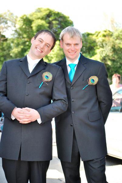 Simon and Cris looking spiffy (Simon and Anita's Wedding)