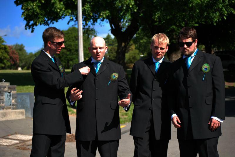 The lads (Simon and Anita's Wedding)