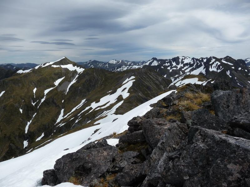 View across the mountains (Lewis Pass Tops)