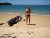Frauke on the beach (Abel Tasman NP)