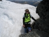 Gina and snow (Mt Technical, Lewis Pass)