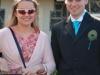 Katie and Cris outside church (Simon and Anita's Wedding)