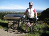 Katie and her bike on the port hills (Christchurch)