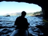 Kayaking into a cave (Quail Island)