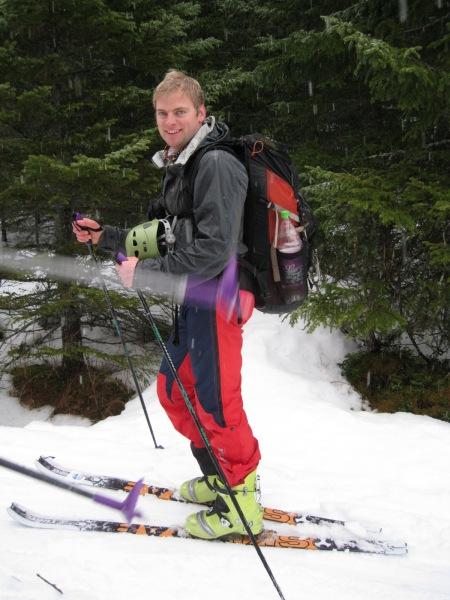 Cris on skis (Norway)