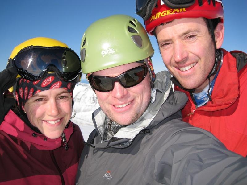 Em, Cris, and Chris (Ski touring Glomfjord, Norway)