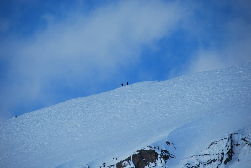 Emily and Chris on a mission (Ski touring Glomfjord, Norway)