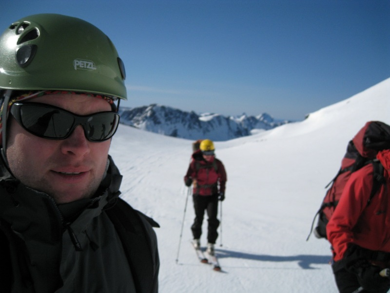 Heading back from hut (Ski touring Glomfjord, Norway)
