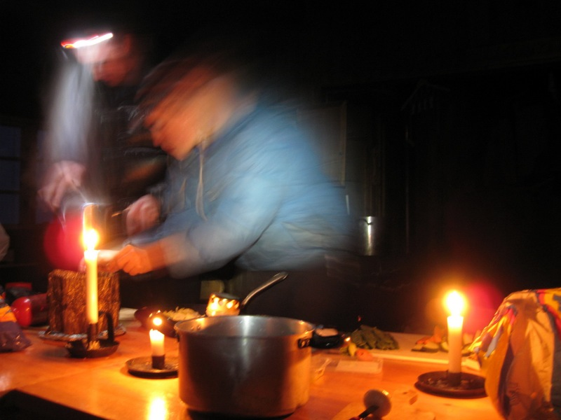 Preparing dinner (Norway)