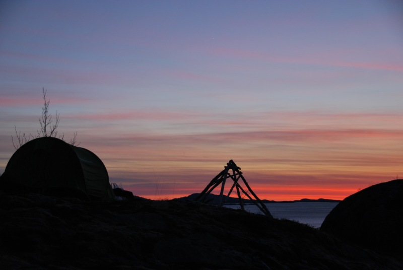 Silouette of tent (Norway)