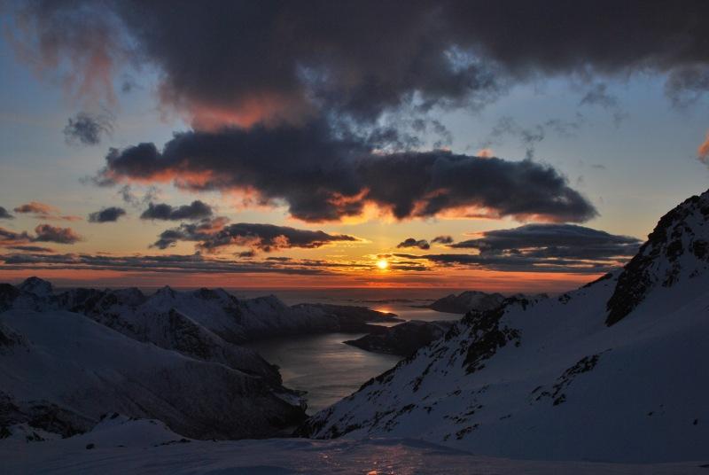 View of fiords 2 (Ski touring Glomfjord, Norway)
