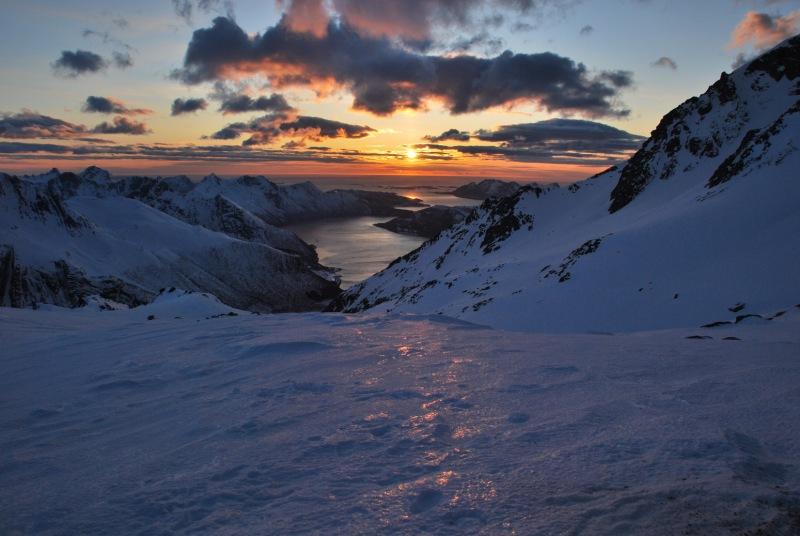 View of fiords 4 (Ski touring Glomfjord, Norway)