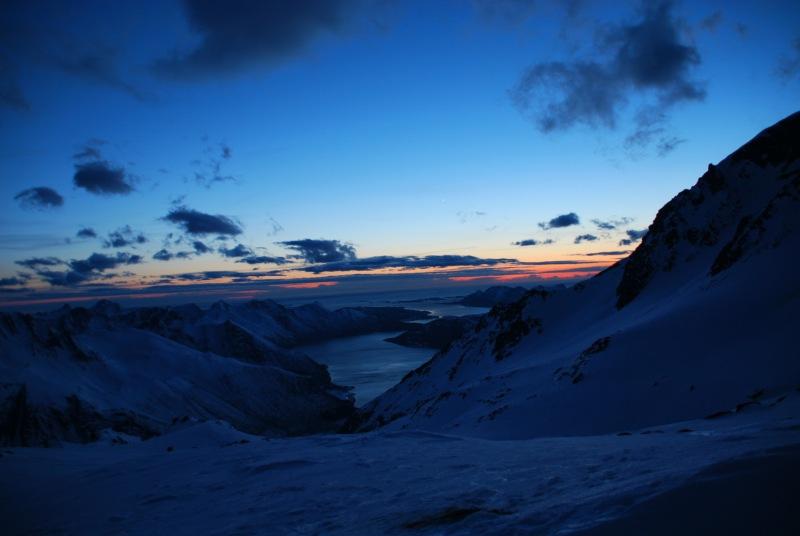 View of fiords 5 (Ski touring Glomfjord, Norway)