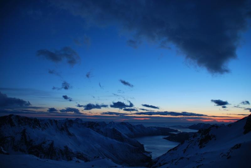View of fiords 6 (Ski touring Glomfjord, Norway)