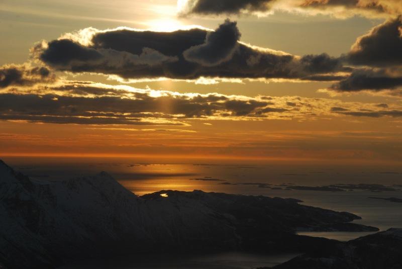 View towards fiords 2 (Ski touring Glomfjord, Norway)