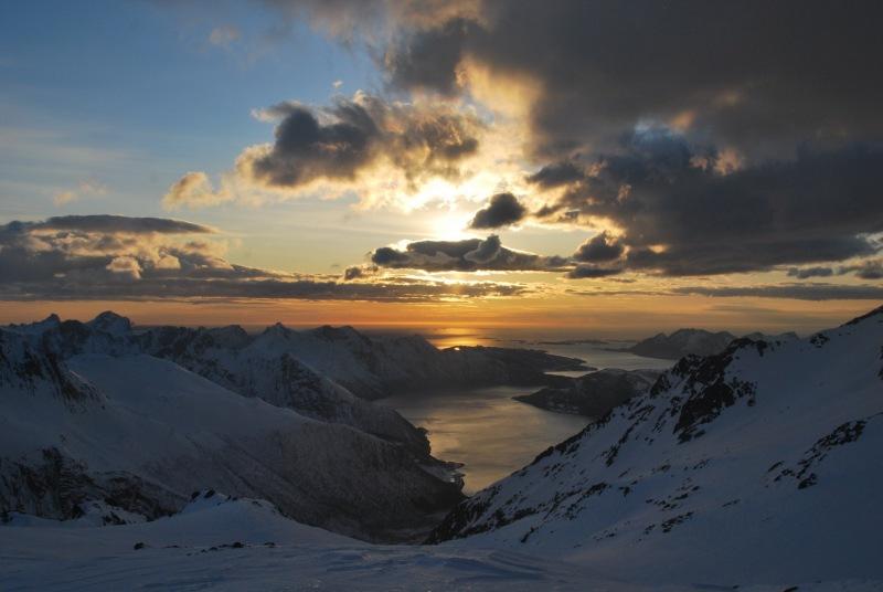 View towards fiords (Ski touring Glomfjord, Norway)