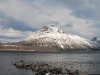 A snowy mountain (Norway)