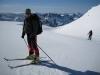 Cris on glacier (Ski touring Glomfjord, Norway)
