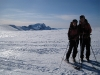 Em and Chris on glacier (Ski touring Glomfjord, Norway)