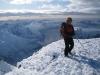Emiy on a little peak (Ski touring Glomfjord, Norway)