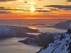 View of fiords (Ski touring Glomfjord, Norway)