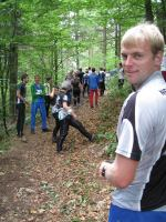 Cris at start line stage 4 (OO.cup, Slovenia)