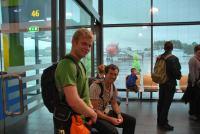 Cris + Chris (Trondheim airport, Norway)