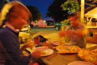 The feasting begins (Logatec, Slovenia)